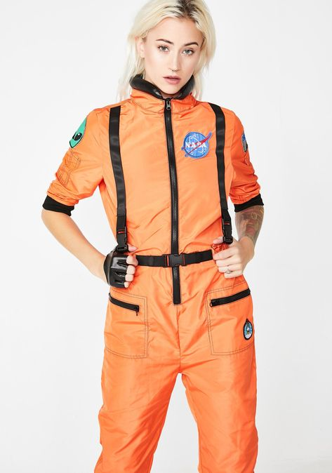 762ecf70fd0c Dolls Kill NASA-TY Flight Suit Costume will have ya zoomin  thru the exxtra  dimensional dope girl space. Get suited up for baddie explorations in this  sikk ...