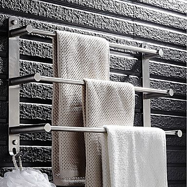 44 16 Towel Bar Racks Bathroom Holder Multilayer Modern Stainless