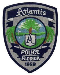 Atlantis Fl Pd Fire Badge Police Law Enforcement