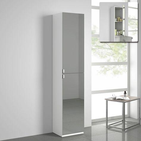 Ebay Bathroom Mirrors By 61 Tall Storage Cabinet