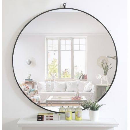 Elegant Lighting Mr4068br Brass Eternity 48 Diameter Circular Metal Framed Wall Mirror With Decorative Hook In 2020 Accent Mirrors Contemporary Accents Round Wall Mirror 48 inch round mirror