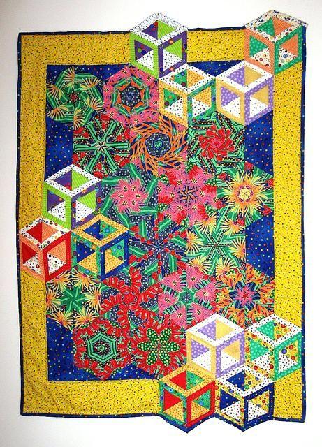 3d Illusion Quilt Patterns Easy 3d Quilt Patterns 3d Flower
