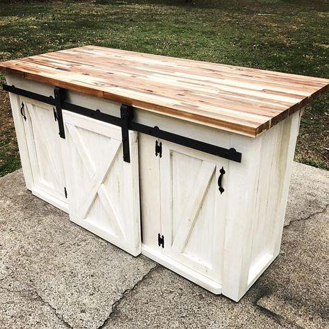 Kitchen Island With Sliding Barn Door Kitchen Cabinet Remodel Kitchens Live Edge Barn Door Cabinet