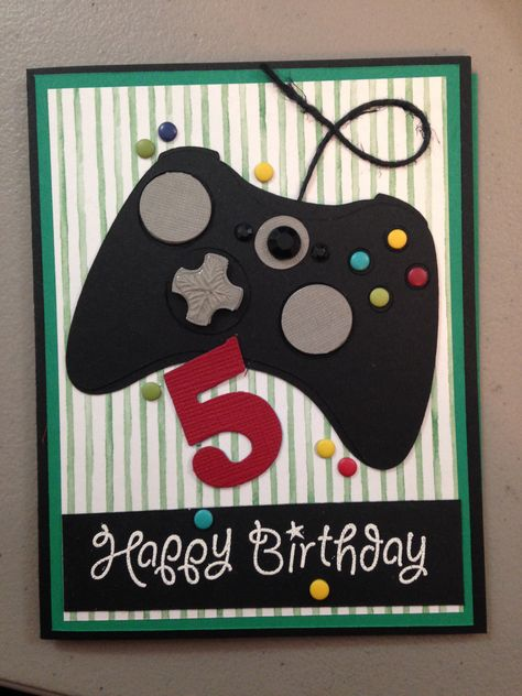 Birthday Card For My Little Gamer