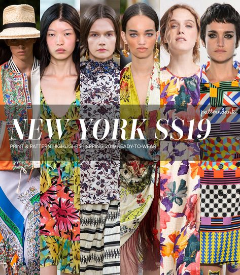 New York City Wrap: Print & Pattern Highlights – Spring 2019 Ready-to-Wear | Patternbank #trend #trends #fashiontrends