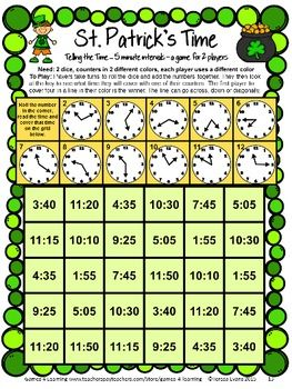 St. Patrick's Day Math Games Second Grade | school stuff ...