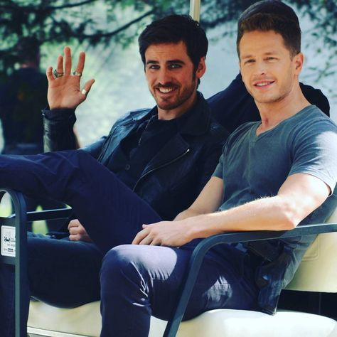 """Colin O'Donoghue and Josh Dallas - Behind the scenes - 6 * 5 """" Street Rats"""" - 30th August 2016"""