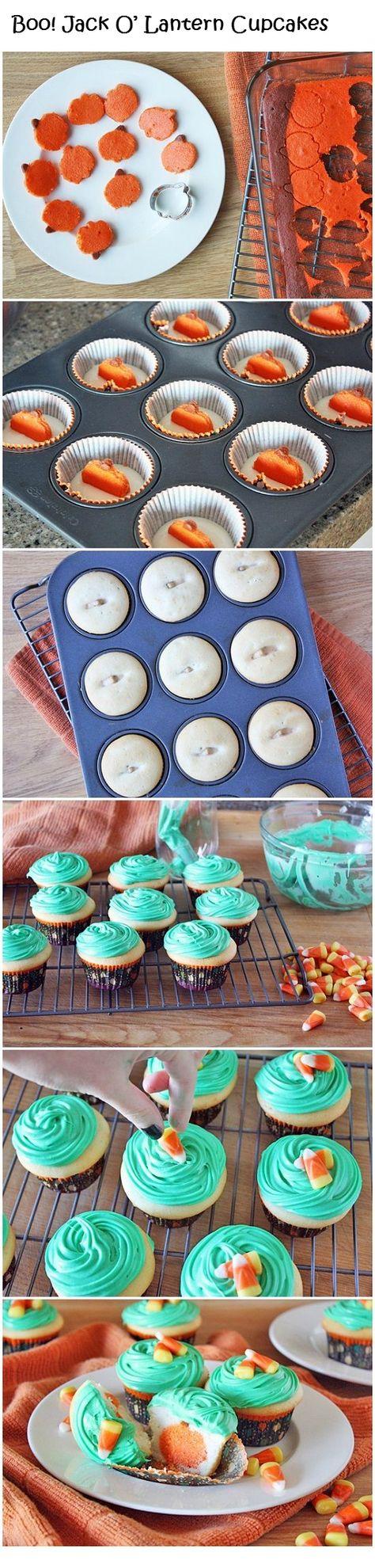 Boo! Jack O' Lantern Cupcakes