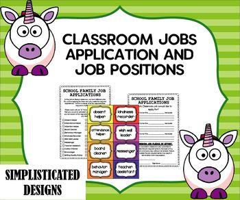 Classroom Job Application And Job Positions Classroom Jobs Classroom Job Application Student Jobs
