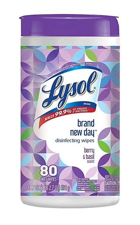 Lysol Disinfecting Wipes Brand New Day Berry Amp Basil 80ct In 2020 Disinfecting Wipes Lysol Lysol Disinfecting Wipes
