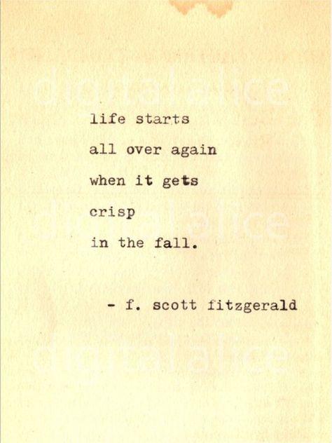 VINTAGE TYPEWRITER PRINT f Scott Fitzgerald Gatsby Quote Wall | Etsy