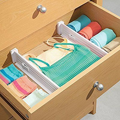 Amazon Com Mdesign Adjustable Deep Drawer Organizer Dividers For Dresser Storage Pack Deep Drawer Organization Storage Closet Organization Organize Drawers