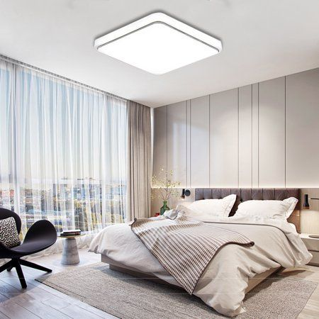 24w Led Square Flush Mount Pendant Ceiling Light Fixtures