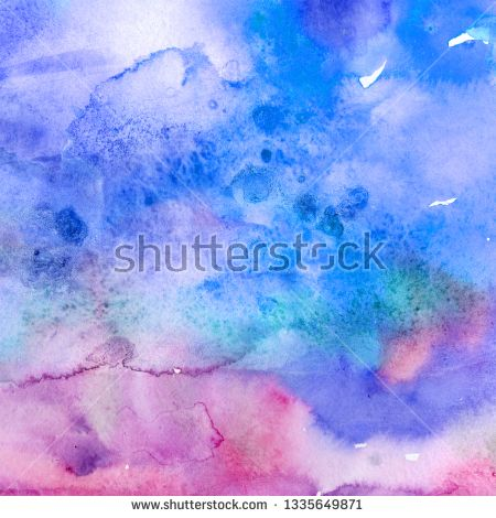 Stock Photo Abstract Watercolor Paper Splash Shapes Isolated