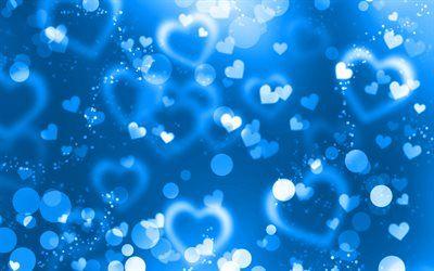 تحميل خلفيات الأزرق وهج القلوب 4k الزرقاء معان الخلفية الإبداعية الحب المفاهيم مجردة القلوب الأزرق القلوب Besthqwallpapers Com Sprinkles Candy Animated Gif