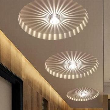Modern Led Ceiling Light 3w Rgb Wall Sconce For Art Gallery Decoration Front Balcony Lamp Porch Light Corridors Light Fixture Fashionable And Attractive Packages Ceiling Lights Ceiling Lights & Fans