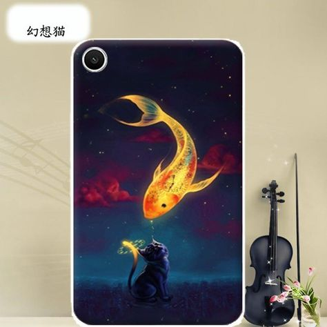 Bright case with a picture of flowers hearts animals and cartoon heroes for Huawei MediaPad T Plus Tu
