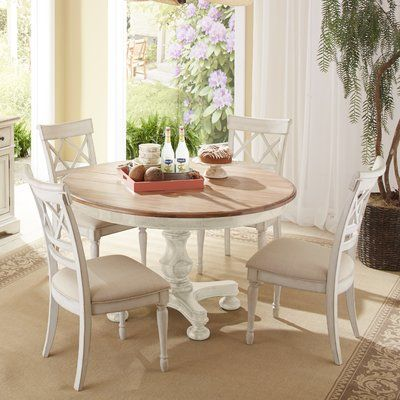 Highland Dunes Allgood 7 Piece Dining Set Wayfair Dining Room Sets Dining Table Round Dining Table