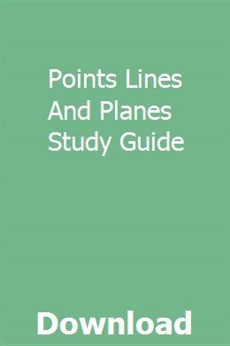 Points Lines And Planes Study Guide Pdf Download Online Full With