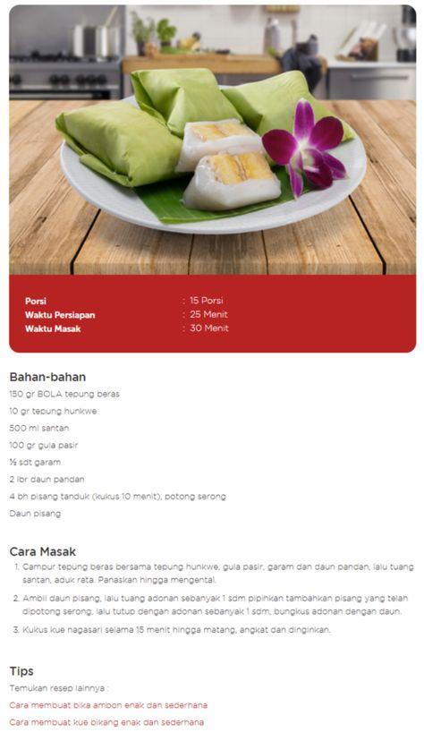 Resep Membuat Kue Nagasari Isi Pisang Kenyal Lembut Resep Resep Pisang Resep Makanan