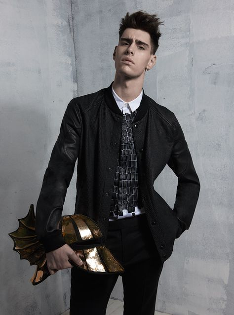Jonathan Bauer photographed by Monika Robl and styled by Theophile Hermand with pieces from Dsquared2, Y-3, Carven, Vivienne Westwood, Kenzo, Missoni, KRISVANASSCHE, Juun J, Saint Laurent and more