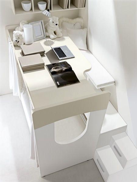 Cameretta per ragazze del catalogo doimo 2017. Comp 901 By Doimo Cityline Spa Kids Bed With Integrated Desk In 2021 Kids Bedroom Kids Bedroom Furniture Room Remodeling