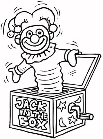 Jack In The Box Toy Coloring Page Coloring Pages Free Coloring