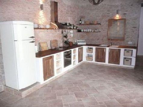Gemauerte küche Haus einrichten Pinterest Kitchens - steckdose arbeitsplatte küche
