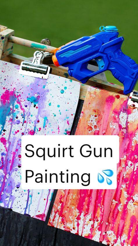 Squirt Gun Painting 💦