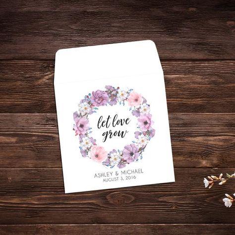 Wedding Favor, 25 Let Love Grow Favors, Wedding # #seedpackets #seedfavors #weddingfavors #weddingseedfavor #weddingseedpackets #seedpacket #weddingfavor #seedfavor #seedpacketenvelope #seedpacketfavor #springwedding #summerwedding #letlovegrow