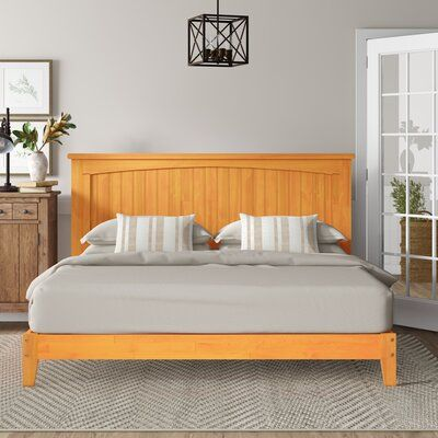 Beachcrest Home Voyager Panel Bed In 2020 Panel Bed Rustic Wood Bed Home