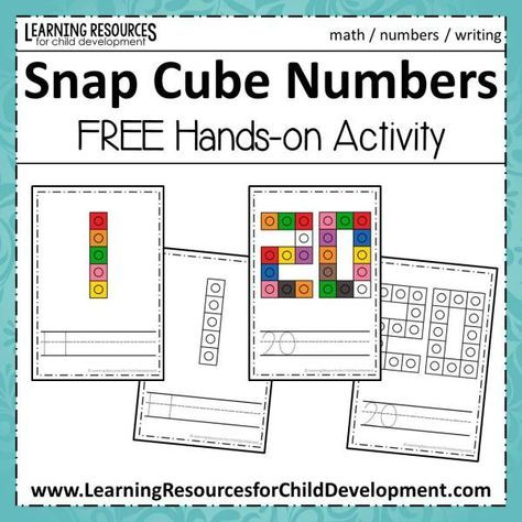 Snap Cube Numbers Math Activities Snap Cubes Numbers Kinder Math
