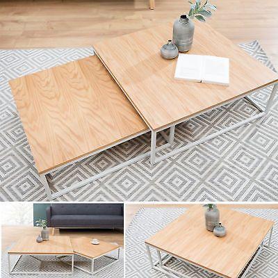 Design Couchtisch 2er Set Big Fusion Eiche Weiss Beistelltisch Tische Sofatisch Sofa Tisch Beistelltisch Weiss Couchtisch