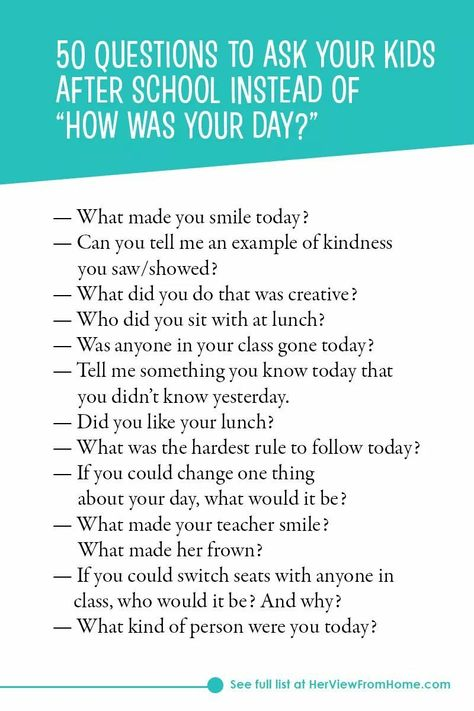 """""""It's hard to know how to approach a young person who is struggling with issues you may not understand or relate to. However, it's important not to ignore it. Here's a great list of questions to get an important conversation started via @herviewfromhome. #BackToSchool"""""""