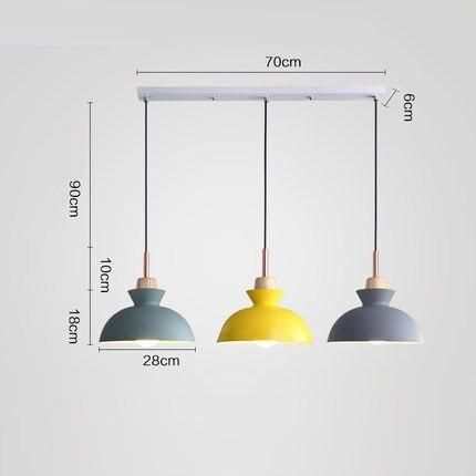Pack Of 3 Dining Room Pendant Lamp Lights Macaroon Colorful Led Modern Lamp Hanglamp For Kitchen Island Ceiling Room Lighting In 2020 Dining Table Lamps Lamp Light Dining Room Pendant