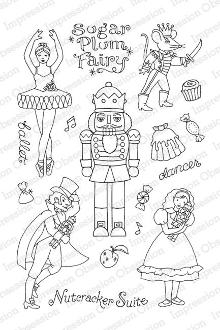 Impression Obsession Nutcracker Sweets Christmas Clear Stamp Cl780 Nutcracker Clear Stamps Christmas Coloring Pages
