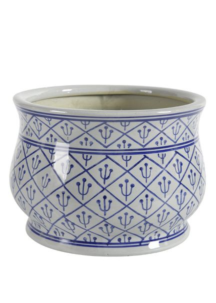 Jamali   10 1/2 X 7 1/2in Blue White Planter | Blue And White | Pinterest |  Planters, Garden Windows And Ranges