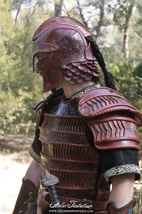 Viking cuir leather lamellar armor armure lamellaire celtique larp
