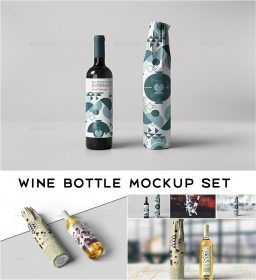 Download Wine Bottle Wrapping Mockup Free Download Wrapped Wine Bottles Bottle Wrapping Bottle
