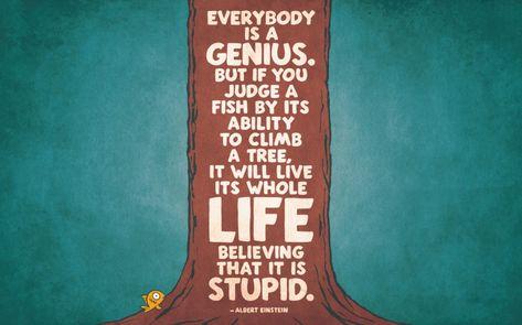 Albert Einstein Zitate Genie Fisch Klettern Baum Einstein
