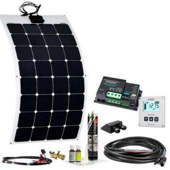110w Wohnmobil Solaranlage Spr F 12v Ebl Flexibel Mit Display Solar Autark Com Solarstrom Fur Wohnmobile Haus U Garten Solaranlage Solaranlage Wohnmo
