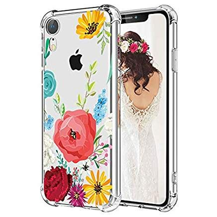 outlet store 63c37 20a2b Flowers iPhone XR Case Hepix Floral Clear Phone Caes for Girls Women ...