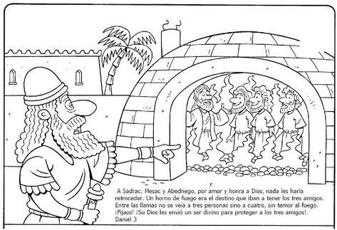 Dibujos Para Colorear Sadrac Mesac Y Abednego Paginas Para