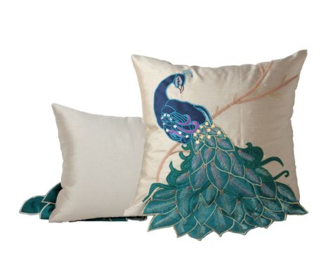 Cool Peacock Pillow | Decorative pillow