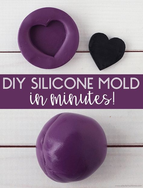 Make your own custom silicone mold in minutes! Diy Resin Mold, Diy Resin Art, Diy Silicone Molds, Diy Resin Crafts, Glue Crafts, Resin Molds, How To Make Silicone, Ice Resin, Diy Resin Projects
