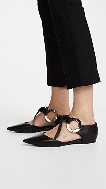 Grommet Flats   Proenza schouler, Flats, Shoes
