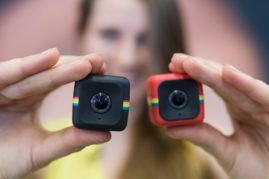Präsentaion der Polaroid Cube HD 1080p Lifestyle Action Videokamera, 33. Photokina 2014 - Internationale Fotofachmesse in Köln http://blog.ks-fotografie.net/fotothemen/photokina/photokina-2016-eintrittskarten-gewinnspiel/