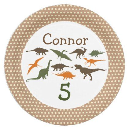 Dinosaur Plate Personalized Paper Plate - home gifts ideas decor special unique custom inidual customized inidualized  sc 1 st  Pinterest & Dinosaur Plate Personalized Paper Plate - home gifts ideas decor ...