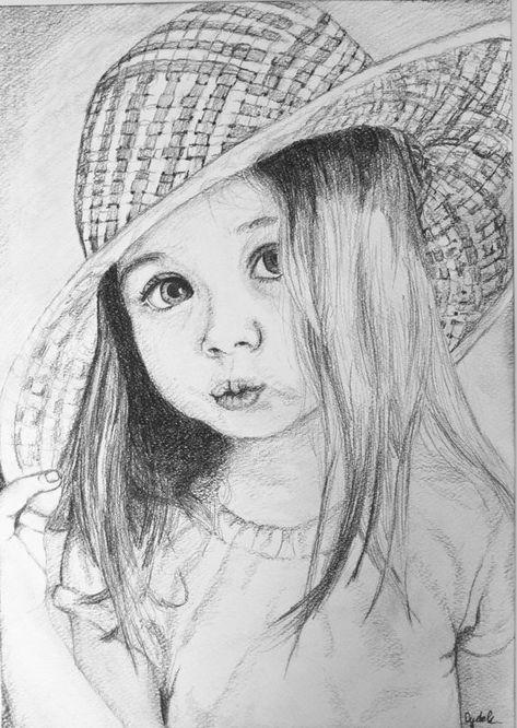 Custom portrait pencil drawing black and white portrait | Etsy