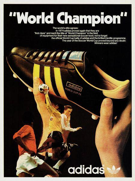 PUB. Adidas. World Cup 1974. ~ THE VINTAGE FOOTBALL CLUB